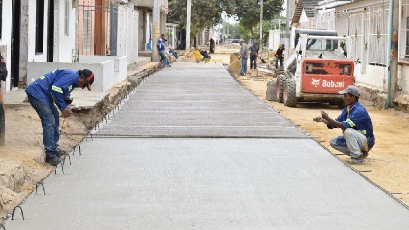 Comenzó pavimentación de vías en el barrio Centro del municipio de Malambo