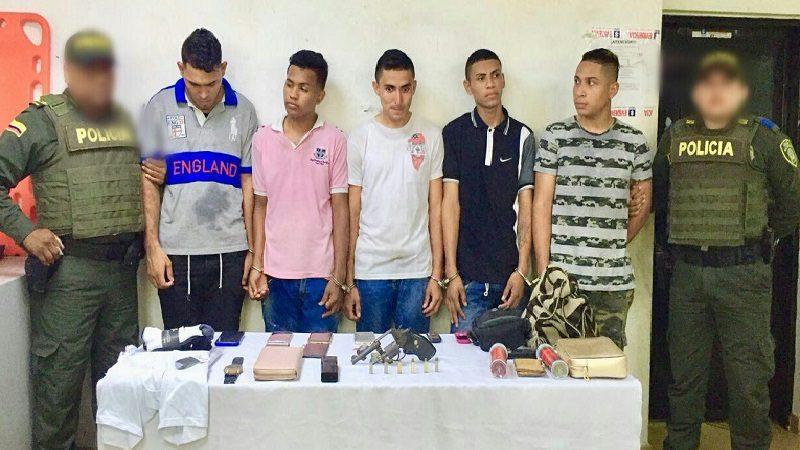 Con ayuda del helicóptero de la Policía capturan a 5 atracadores en el barrio San José