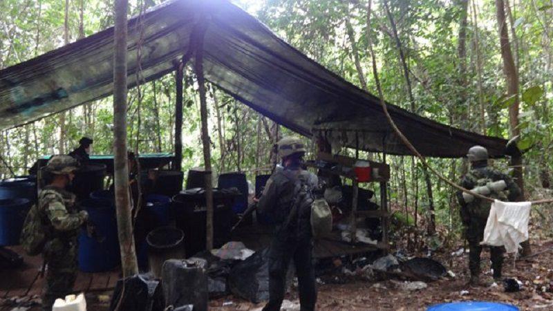 Destruyen laboratorio de cocaína del Eln, entre Norte de Santander y Cesar