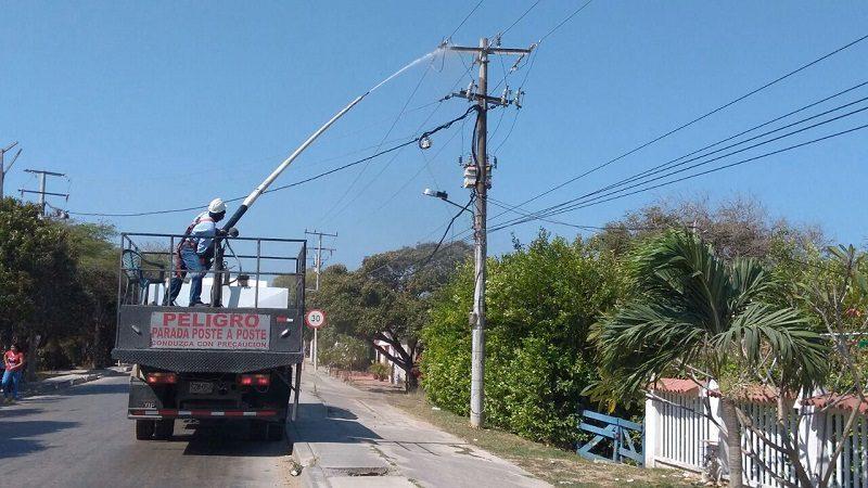 Este domingo 22 de abril, Elcetricaribe continúa lavado de líneas en Barranquilla y Soledad