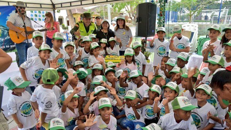 Hijos de recicladores celebraron el Día de la Tierra con actividades lúdicas, en Barranquilla