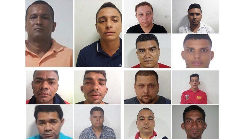 Operación 'Cazador' deja 14 capturados por hurto y la recuperación de 7 vehículos
