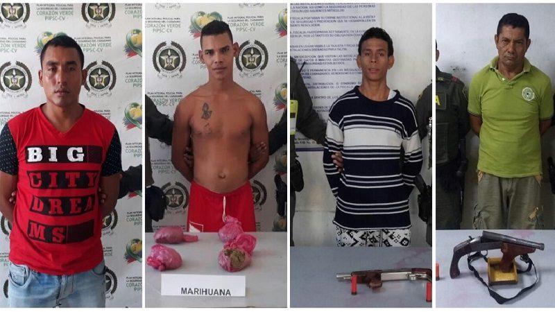 Policía captura a cuatro personas por diferentes delitos, en Barranquilla y Mlambo