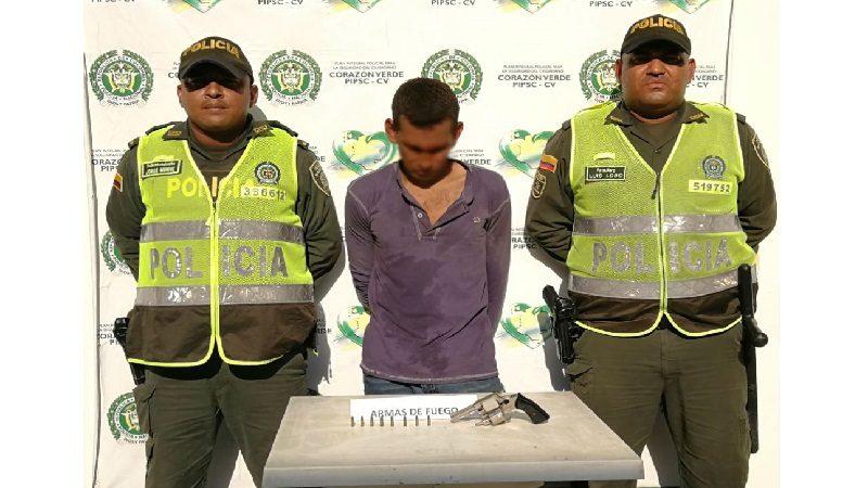 Por porte de armas capturan a un hombre en Palmar de Varela