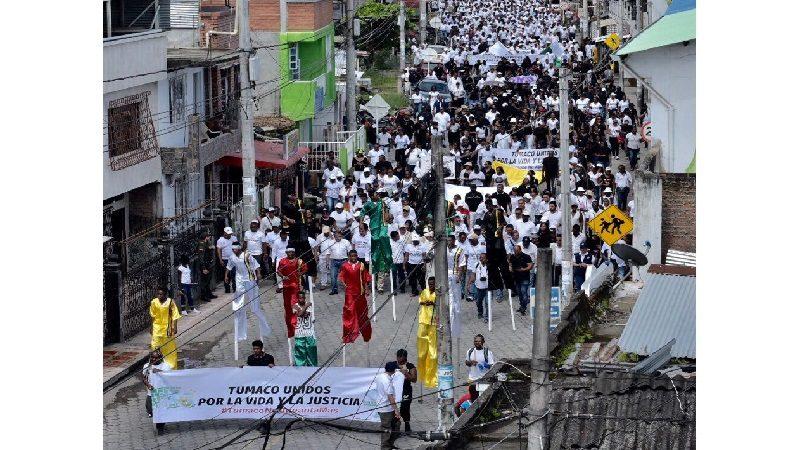 Tumaco marchó por los Derechos Humanos, la vida y la paz