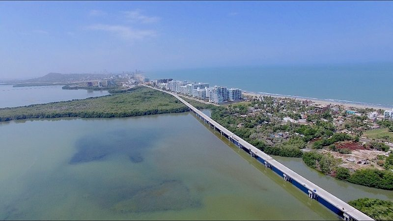 En 93% avanza construcción de Viaducto entre Cartagena y Barranquilla