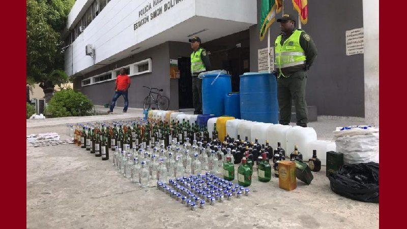 Incautan licor adulterado en el barrio Las Nieves, que iban a vender en el Día de la Madre