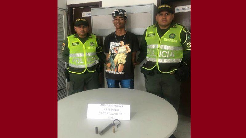 Lo capturan con un arma de fuego artesanal en el municipio de Baranoa