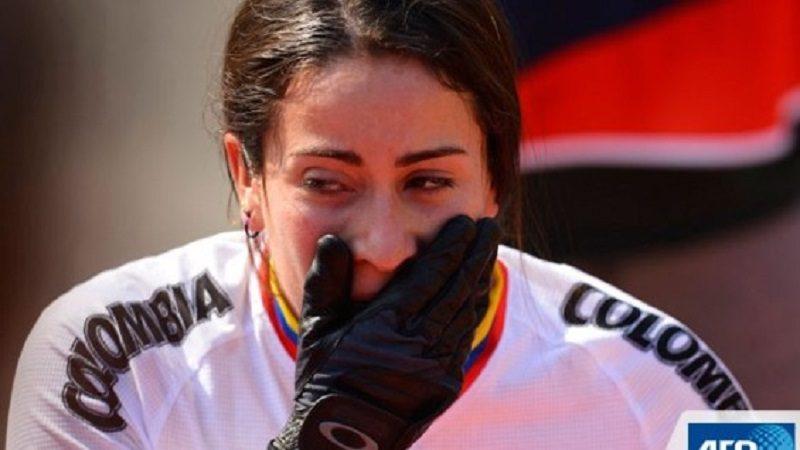 Mariana Pajón sufrió una aparatosa caída en la Copa Mundo de BMX