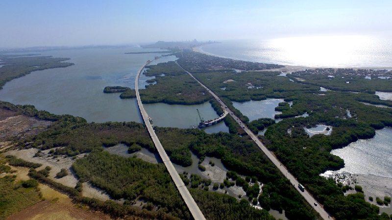 Viaducto sobre la Ciénaga de la Virgen en Cartagena está en su fase final