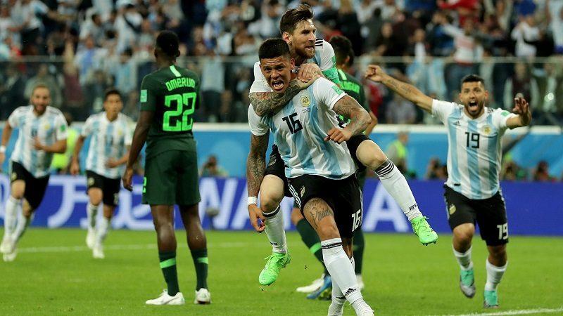 Argentina le ganó a Nigeria y clasificó a octavos de final