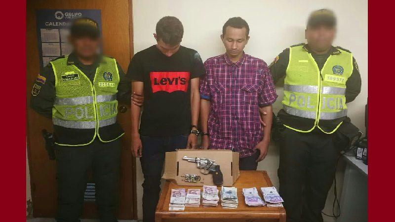 Cometieron un 'taquillazo' en La Arboleda y los capturó la Policía
