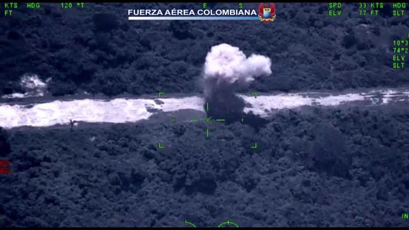 Fuerza aérea destruyó pista al servicio del narcotráfico, en Pivijay, Magdalena