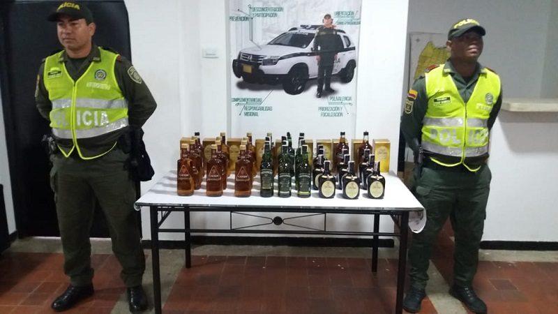 Incautan más de 100 botellas de licor adulterado en Repelón, Atlántico