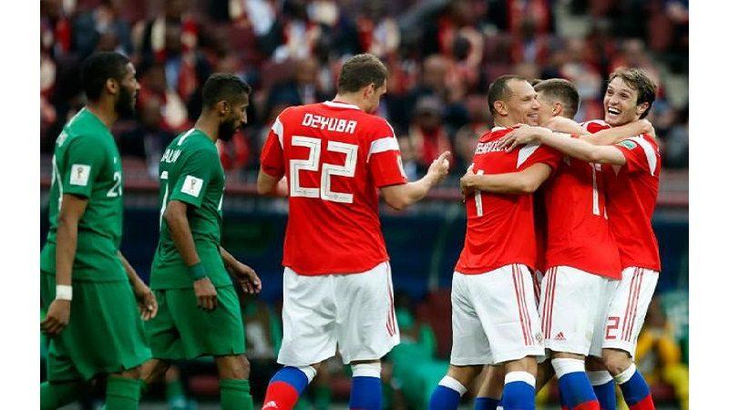 Rusia goleó 5-0 a Arabia Saudita en partido inaugural del Mundial