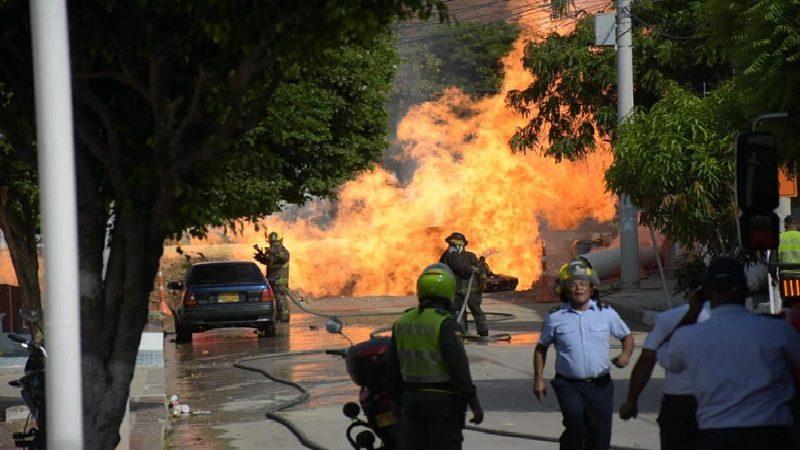 Un herido deja incendio por escape de gas en el barrio Recreo