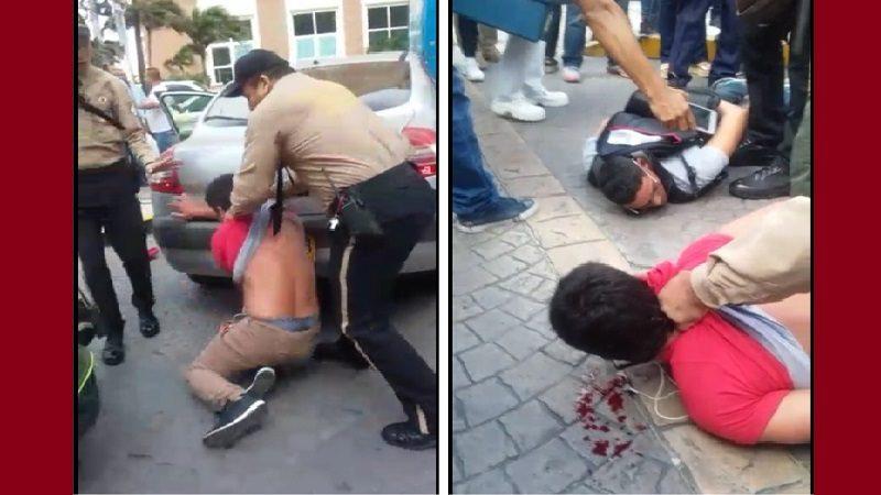 Atracaron dentro del Buenavista y se dieron tiros con vigilantes y policías OK