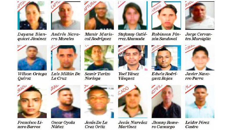 Autoridades capturan a 14 presuntos fleteros de la banda 'Los Caribeños'