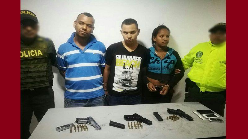 Caen en Barranquilla, atracadores con pistola de las Fuerzas Armadas de Venezuela