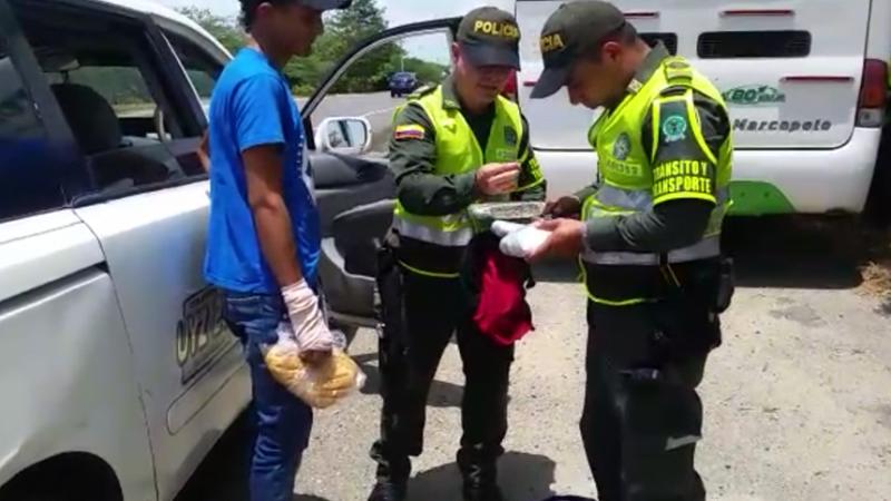 Capturan a joven que se movilizaba en una van con más de 2.000 dosis de marihuana