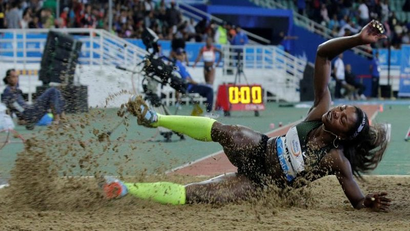 Caterine Ibargüen saltó a la final en Marruecos con una impresionante marca de 14,96 metros