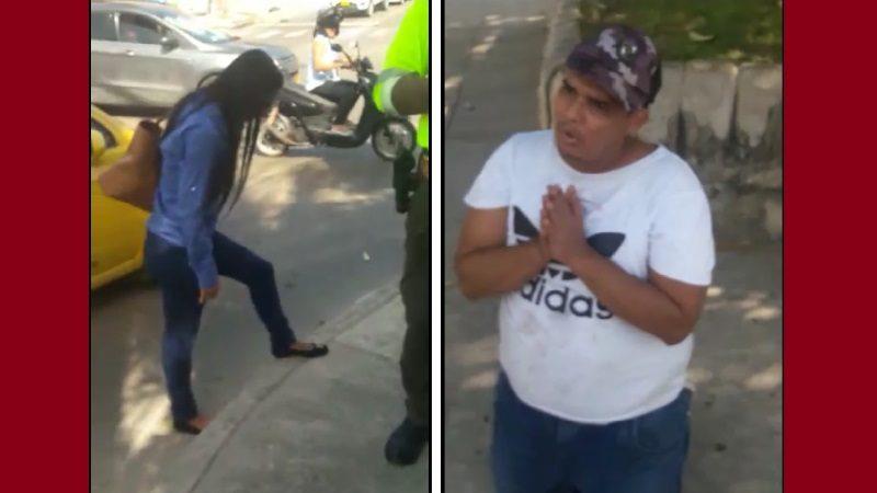 De rodillas, ladrón arrepentido pide perdón a su víctima, en el barrio Ciudad Jardín
