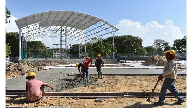 En un 80% avanza construcción del parque Isolina Majul en Malambo