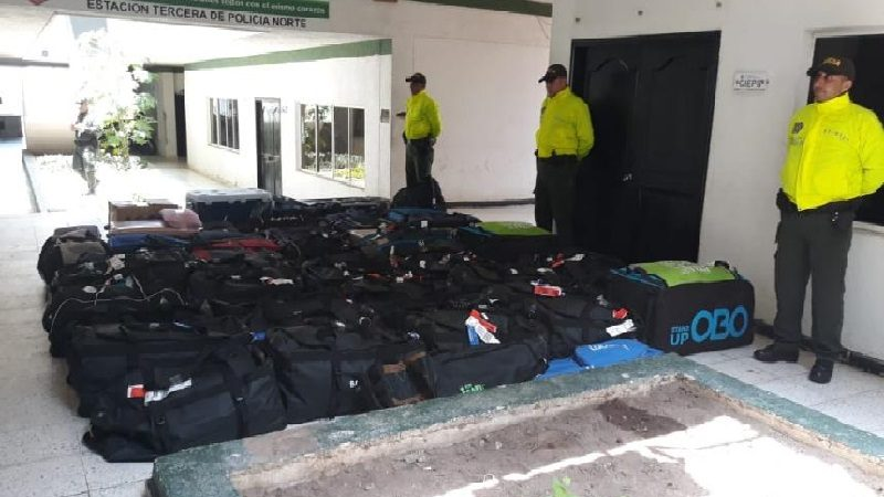 Recuperan maletas de deportistas de los Centroamericanos y capturan a 8 personas