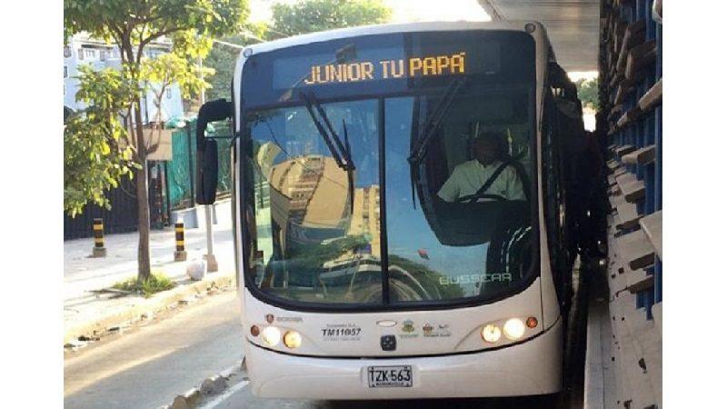 Transmetro tiene operación especial para los partidos de Colombia y Junior en el Romelio