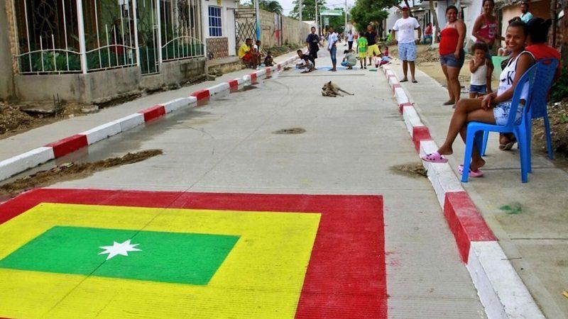 Comunidad de La Sierrita ya cuenta con cinco nuevas vías a través de Barrios a la Obra