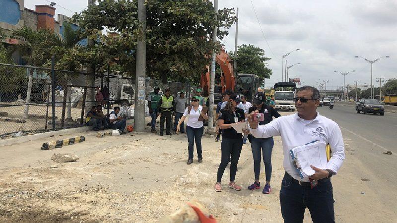 Control a ocupación de espacio público en tramo de la Circunvalar que tendrá 10 carriles
