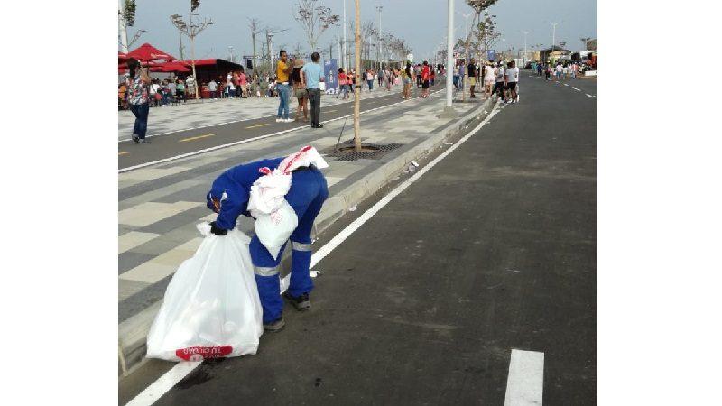 Más de 350 toneladas de basuras recogió Triple A durante los Juegos Centroamercianos