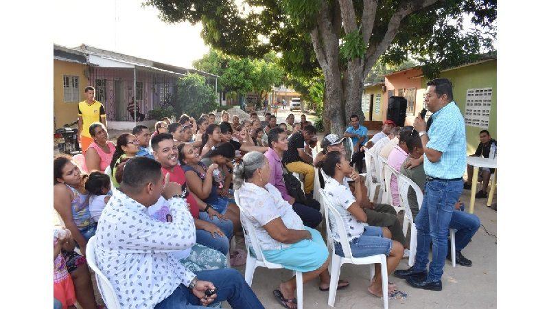 Socializan construcción de vía canal y alcantarillado para la barrio la Esperanza, en Malambo
