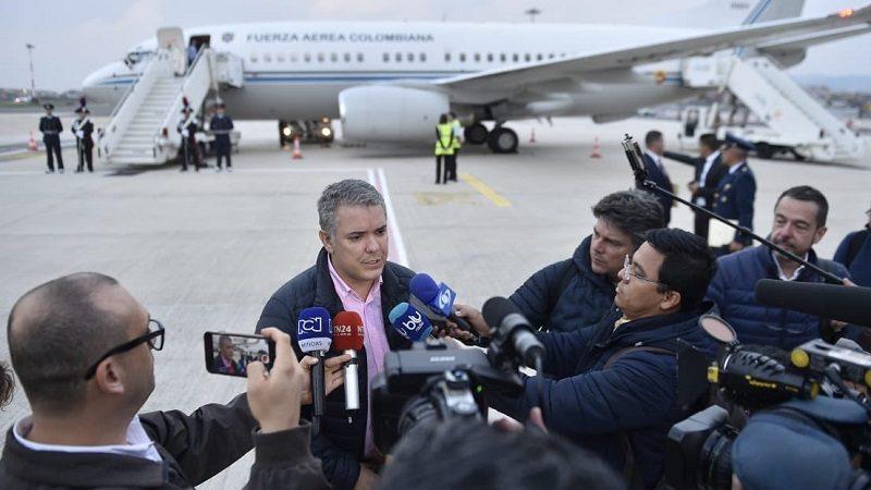 'Estamos con una profunda alegría de tener el primer encuentro con el Papa Francisco', dijo presidente Duque a su llegada a Roma