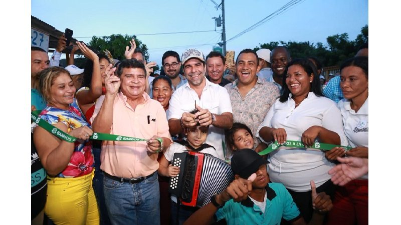 Alcalde Alejandro Char puso en servicio seis nuevas vías en el barrio El Edén