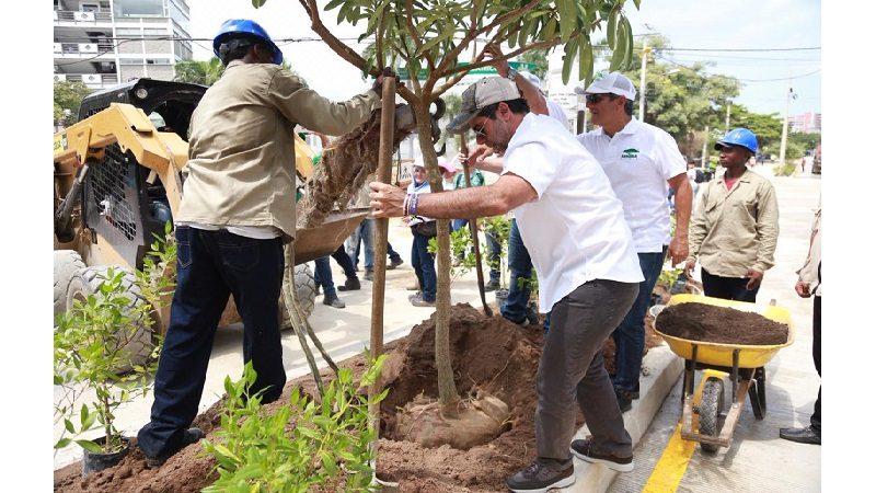 Alcalde Alejandro Char sembró el árbol número 23.000 en Barranquilla