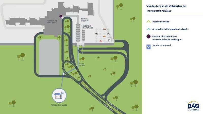 Así cambiará la ruta de acceso al aeropuerto Ernesto Cortissoz