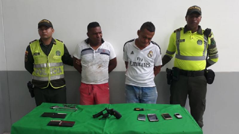 Balacera y persecución deja dos capturados en el norte de Barranquilla