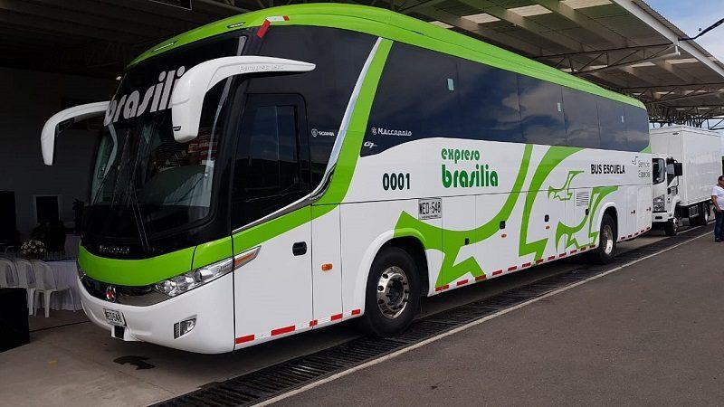 Brasilia presentó su nuevo Bus-Escuela, el primero en Colombia con sistema de seguridad ADAS