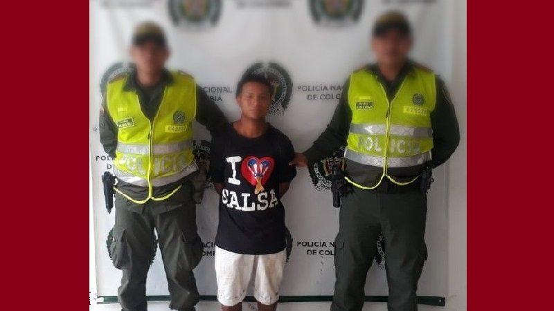 Capturan a alias 'El Bryan', por pegarle a su madre, en Sabanalarga
