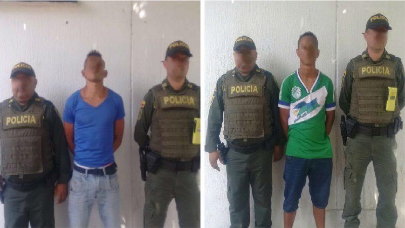 Capturan a dos hombres que vendían droga a domicilio en Sabanagrande