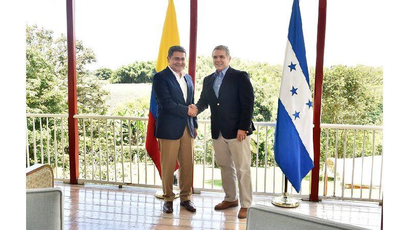 Colombia y Honduras, unidos para mejorar precio del café y luchar contra el narcotráfico y el crimen transnacional