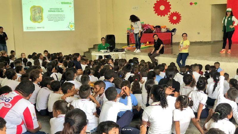 Con 'Urbanitos', 1.500 niños de Barranquilla están capacitados sobre el buen uso de los espacios públicos