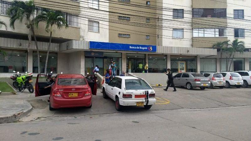 Delincuentes asaltan Banco de Bogotá en el norte de Barranquilla