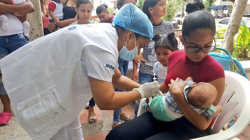Desde este sábado 13 de octubre, campaña especial de vacunación contra el sarampión para niños de 6 a 11 meses