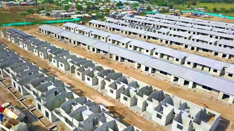 En 70 % avanza la construcción de 300 casas gratis en Repelón