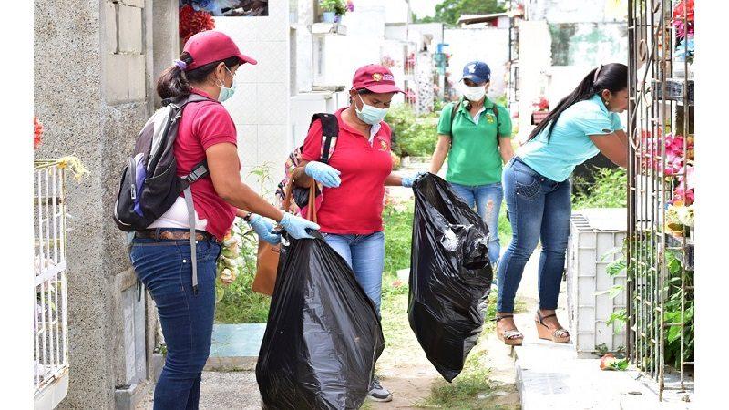 En Malambo, alistan cementerio municipal para el Día de los Fieles Difuntos