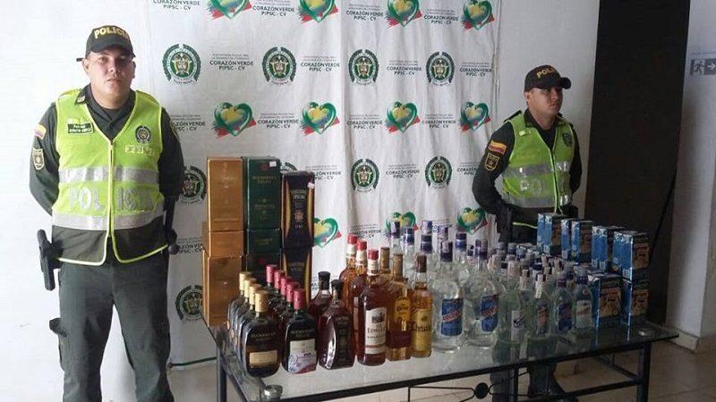 Incautan 78 botellas de licor de dudosa procedencia, en Ponedera ok