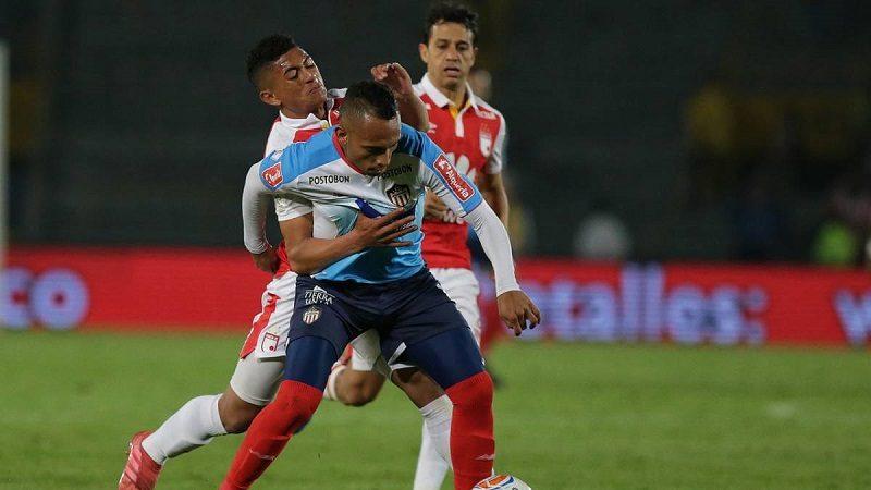 Junior empató 2-2 con Santa Fe en Bogotá y sigue en zona de clasificación