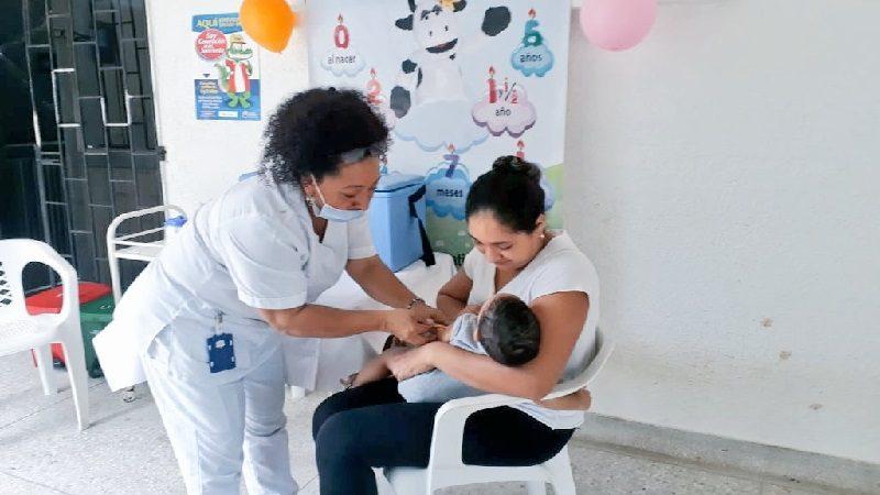 Más de 3.200 niños fueron vacunados en Barranquilla durante jornada nacional